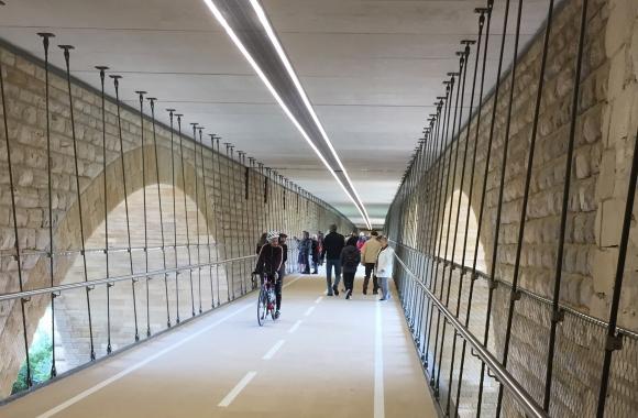 Inauguration de la passerelle cycliste sous le Pont Adolphe