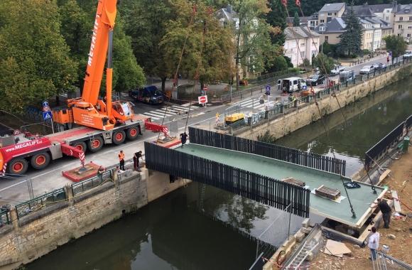 Une nouvelle passerelle relie l'Ecole Centrale de Clausen au Parc Mansfeld