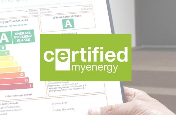 INCA ist offiziell myenergy-zertifiziert! INCA est officiellement certifié myenergy !