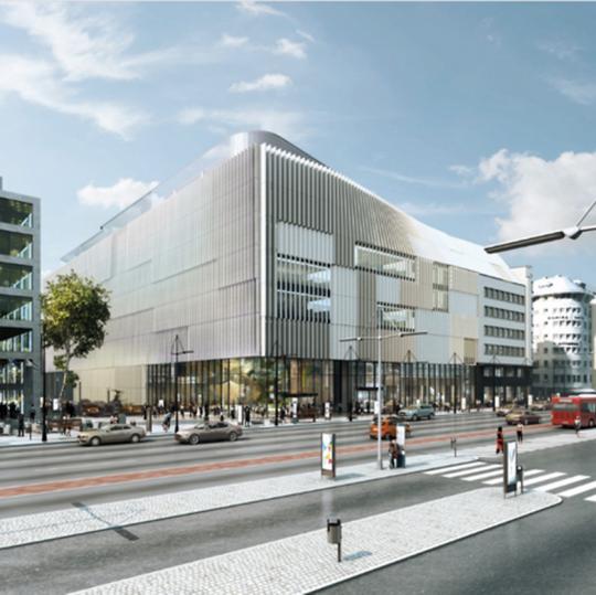 Futur siège POST, en face de la Gare de Luxembourg