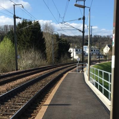 Stabilisation du talus à l'arrêt Belval-Redange