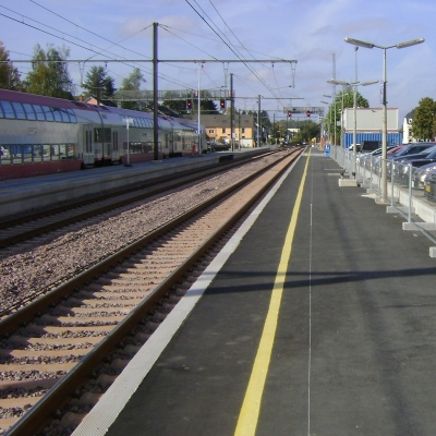 Renouvellement des quais et voies de la gare à Kleinbettingen